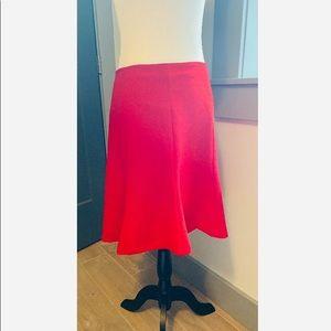 Ralph Lauren red midi skirt size 8